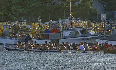 Photograph - Canoe Races by Louise Magno
