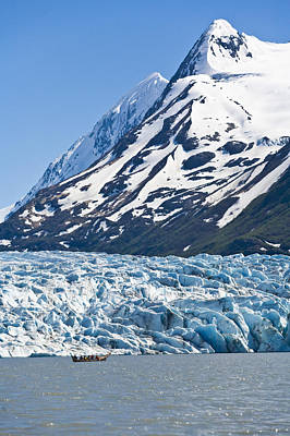 Canoeing At Spencer Glacier In The Art Print by Michael DeYoung