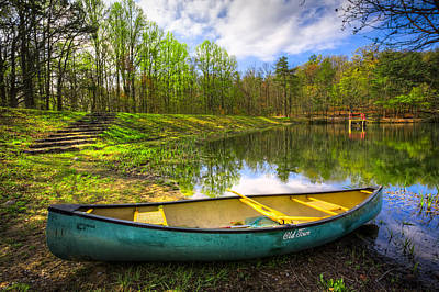 Ocoee Photograph - Canoeing At The Lake by Debra and Dave Vanderlaan
