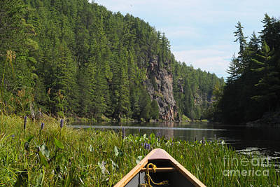 Photograph - Canoeing In Barron Canyon In Ontario by Les Palenik