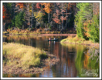 Photograph - Canoeing In The Fall by Mariarosa Rockefeller
