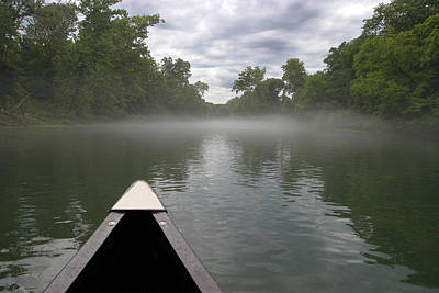 Watersports Wall Art - Photograph - Canoeing The Ozarks by Adam Romanowicz