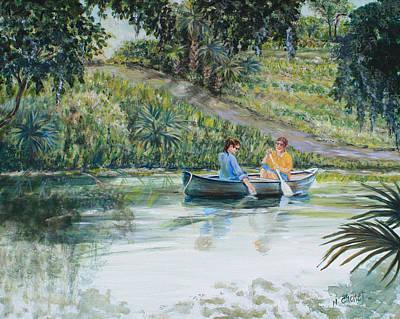 Canoers Enjoying The Day Original by Nancy Chenet