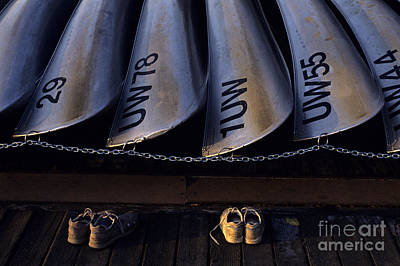 Photograph - Canoes And Tennis Shoes  by Jim Corwin