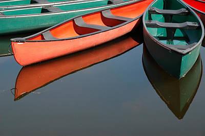 Photograph - Canoes At Dows Lake In Ottawa by Rob Huntley
