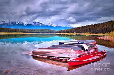 Photograph - Canoes At Lake Patricia by Tara Turner