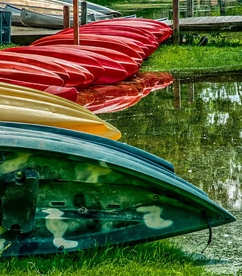 Photograph - Canoes For Rent by Gene Sherrill