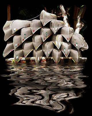 Photograph - Canoes by Gordon Engebretson
