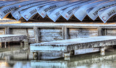 Canoes Ready For Dispatch Art Print
