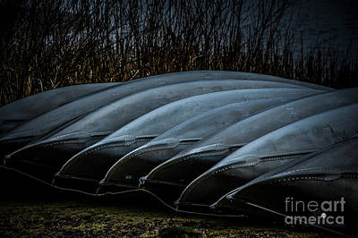 Photograph - Canoes by Ronald Grogan