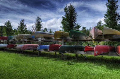 Photograph - Canoes by Steve Hurt