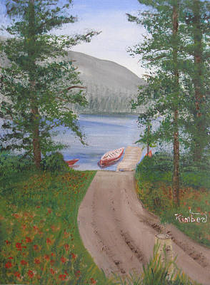 Painting - Canoing In Alaska  by Kimber  Butler
