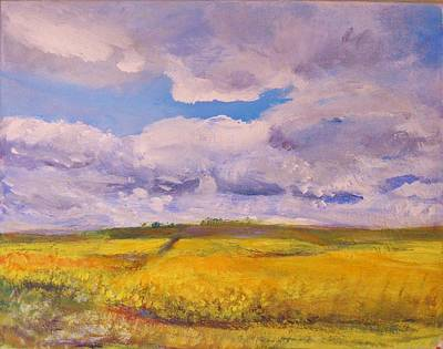 Painting - Canola And Clouds by Helen Campbell