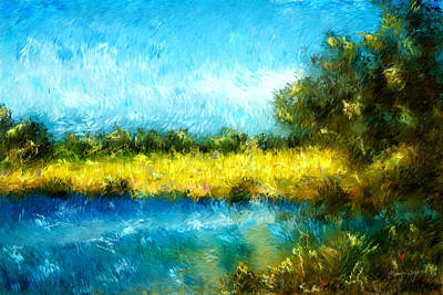 Painting - Canola Fields Impressionist Landscape Painting by Michelle Wrighton