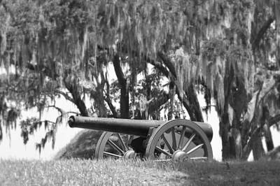 Canon At Fort Mcallister Art Print by Linda Covino