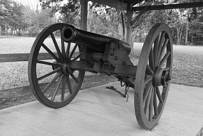 Photograph - Canon At Fort Washita In Bw by Robyn Stacey