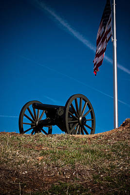 Parkersburg Wv Photograph - Canon With Flag  by Daniel Houghton