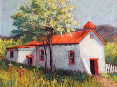 Canoncito Church Art Print