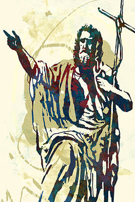 Dancer Mixed Media - canonisation  - Stylised Pop Art Sketch Poster by Kim Wang