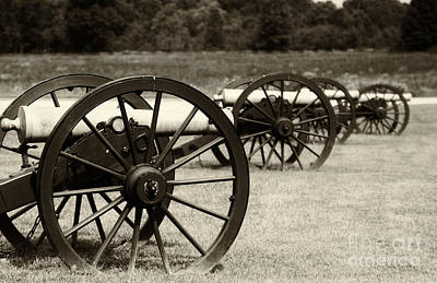 Canons At Pea Ridge Art Print