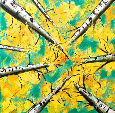 Canopy In Teal Original by Julie Janney