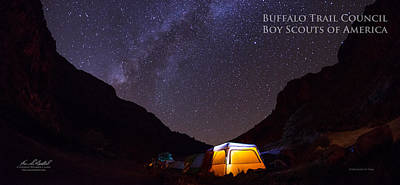 Nature Spirit Photograph - Canopy Of Stars - Pano by Aaron Bedell