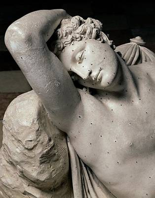 Nude Young Man Photograph - Canova Antonio, The Sleep Of Endymion by Everett