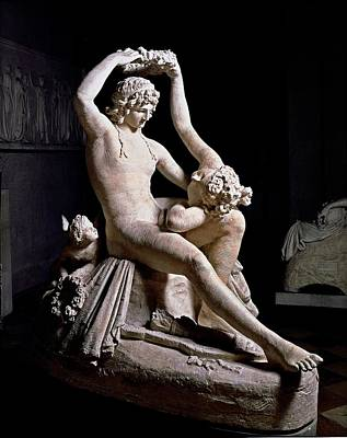 Nude Relief Photograph - Canova Antonio, Venus Crowning Adonis by Everett