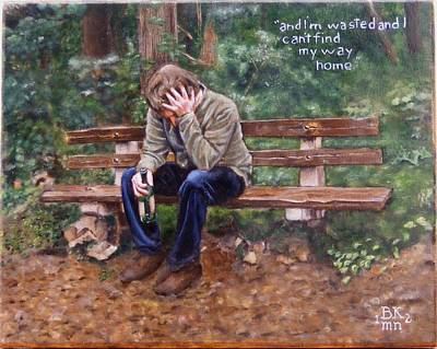 Depression Painting - Can't Find My Way Home by Alan Berkman
