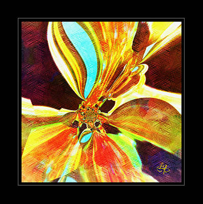 Cantaloupe Abstract  Art Print by Lynda Payton