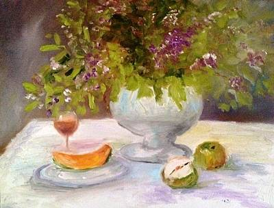 Painting - Cantelope And Apples by Jenell Richards