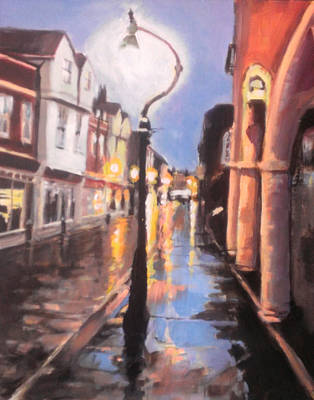 City Painting - Canterbury Burgate Dusk by Paul Mitchell