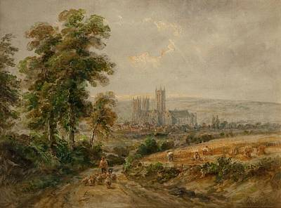 Medieval Painting - Canterbury Cathedral by Henry Earp