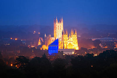 Kent Photograph - Canterbury Cathedral Twilight by Ian Hufton