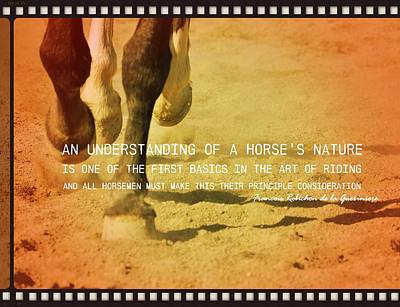 Cantering Along Quote Art Print by JAMART Photography