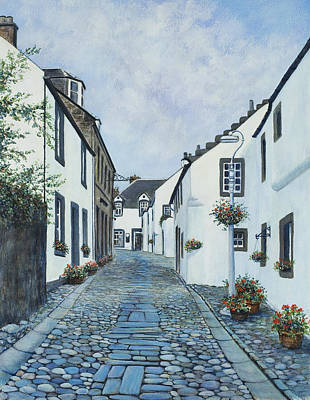 Cantle Of The Causey At Culross Art Print by Stella Turner
