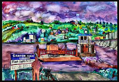 Stockton Painting - Canton Ferry Landing by Dennis Weiser