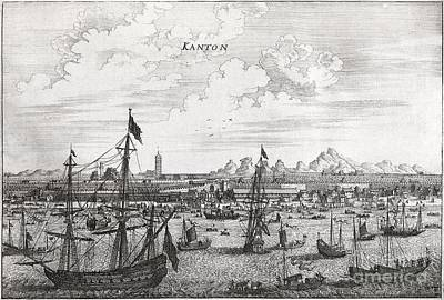 Canton Harbor, 17th Century Artwork Art Print by Middle Temple Library