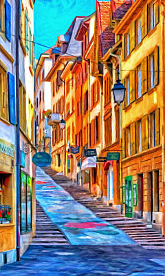 Switzerland Painting - Canton Of Neuchatel by Michael Pickett