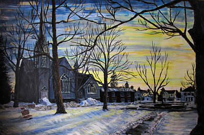 Painting - Canton Park Under January Sun by Denny Morreale