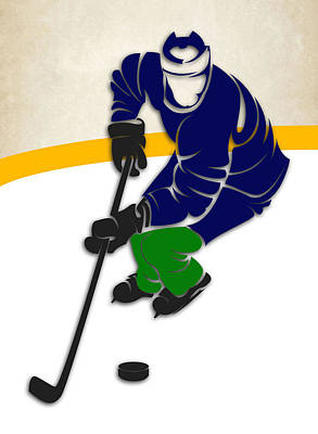 Canucks Hockey Rink Art Print by Joe Hamilton