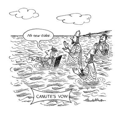 Canute's Vow Art Print