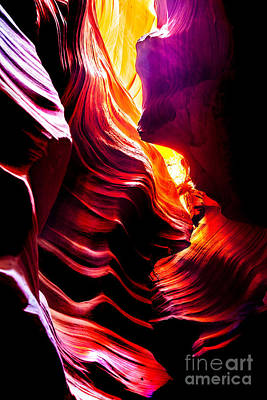 Canyon Cascade Art Print by Az Jackson