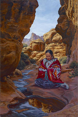 Painting - Canyon Cathedral by Christine Lytwynczuk