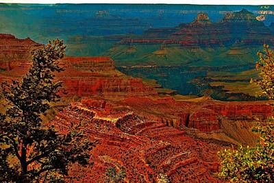Photograph - Canyon Colours Show Through by Jim Hogg