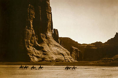 Portraits Royalty-Free and Rights-Managed Images - Canyon de Chelly circa 1904 by Aged Pixel