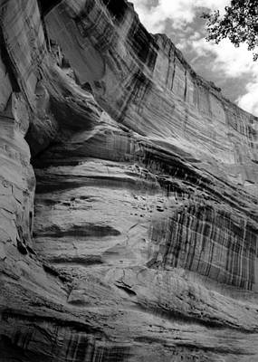 Photograph - Canyon De Chelly  Cliff Curves B W 1993 by Connie Fox