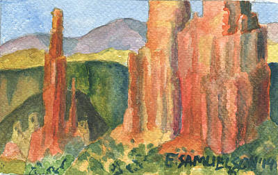 Painting - Canyon De Chelly Fantasy by Eric Samuelson