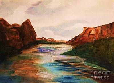 Painting - Canyon De Chelly Golden Dawn by Ellen Levinson