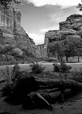 Photograph - Canyon De Chelly National Monument 1993 B W by Connie Fox